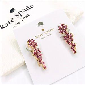 💫New💫KATE SPADE Crystal Flower Climber Earrings